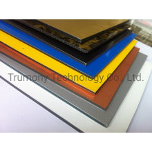 2mm 3mm High Glossy Black White Advertisement Digital 3D UV Printing Board Shopfront Billboard Denoter ACP Aluminum Compostie Panels