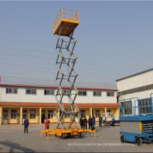 ¡Gran venta! Plataforma elevadora de tijera móvil hidráulica de servicio liviano de 6 m 10 m con el mejor precio