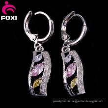 Mode-heißer Verkauf kleiner Ohrring mit weißem Gold überzogen
