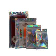 Laser Ziplock Bag Aluminum Foil Bag Nail Eyelash Cosmetic Packaging Bag
