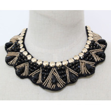 Woman Fashion Costume Jewelry Bead Crystal Choker Necklace (JE0142-1)