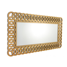Rectangular MDF mirror for home entrance