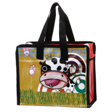 Custom Promotional Reusable PP Laminated Non Woven Shopping Tote Bag With Zip