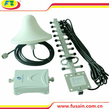 New 55dB Gain 1700MHz Aws 3G 4G Mobile Signal Booster with Outdoor Yagi Antenna and Indoor Omni-Directional Ceiling Dome Antenna