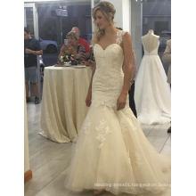 Fit and Flare Mermaid Sleeve Wedding Dress
