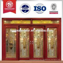 Puerta corredera de madera, puerta deslizante de lujo, puerta corredera de madera