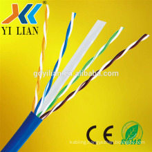 lan cable cat6 4 Pairs 305M LSZH pvc jacket pure copper twisted pair cat 6 networking cable