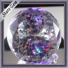 Bela Multi-Color Fancy Cut rodada Cubic Zirconia Ball