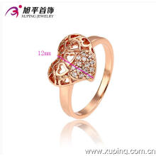 Popular Xuping forma coração anel em forma de cor de ouro rosa