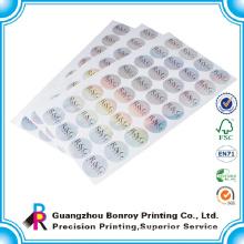 customized logo printing anti-counterfeit waterproof adhesive paper laminated paper sticker