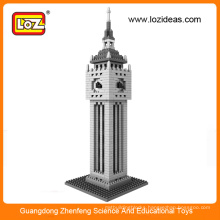 3D diamond blocks the clock tower toys for adults