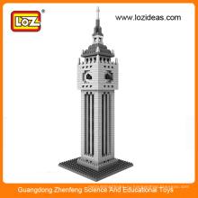 LOZ Всемирная известная архитектурная серия-Clock Tower Building Block Кирпичные игрушки