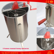 Hot Sale Manual Máquina de processamento de mel 3 Frames Honey Extractor