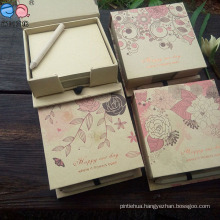 Best Selling New Design Kraftpaper Notepad Box with Pen (NP-FG-0007)