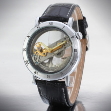 Case hợp kim Da Tourbillon Tự động Movement Watch