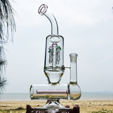 Tubos de agua de fumar de cristal rosa más nuevo diseño (ES-GB-298)