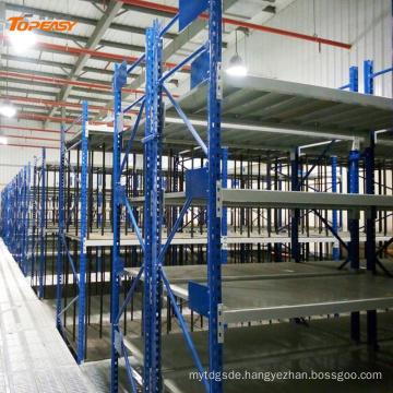 heavy duty multi level steel mezzanine racking system