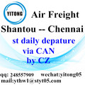 Shantou International Air Freight Forwarding naar Chennai