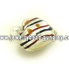 multi colors stripe lampwork glass pendant