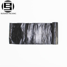 Black hdpe large heavy duty plastic polyester garbage bag with drawstring
