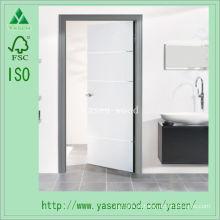 Porta de madeira composta aparada branca interior