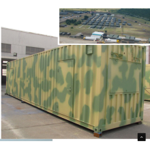 Die Vereinten Nationen Camp Armee Lager Container