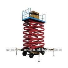 Plataforma elevatória de tesoura electro-hidráulica