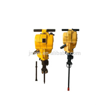 Gasoline portable rock drilling machine