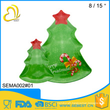 wholesale tableware decorate plastic serving christmas tree tray