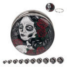 Dia da Virgem Morta 316L Parafuso de Aço Fit para os ouvidos piercings