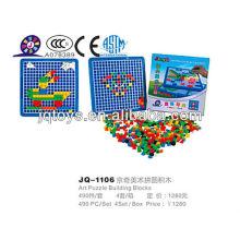 JQ1106 Дети пластиковые блокировки Art Puzzle рабочего игрушка