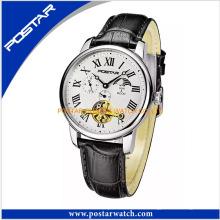 Die Lederarmband-automatische Uhr