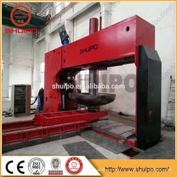 Hydraulic Dished End Configuring Machine /No Template Irregular Dished Head Folding Machine/Dished Flanging Machine