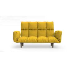 Европейский стиль из дерева в современном стиле серая ткань диван кресло