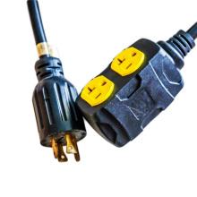 Twist Lock Plug L14-30P to 5-20R Generator Extension Cord