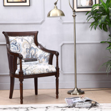 High Wing Back Carved Living Room Armchair