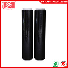 negro LLDPE Palet Shrink Wrap Película estirable fundida film estirable uso de mano película estirable