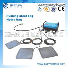 China patente empurrando dispositivo hidro saco de aço para o bloco de granito