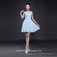 2017 vestido de dama de honra simples chiffon vestido curto verão fashional vestido de noite