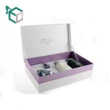 Silberne Stempelnverpacken Brown-Kraftpapier-Kosmetik-Kasten mit Logo