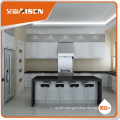 Custom kitchen design Modern Style High Gloss Lacquer painting Kitchen Cabinet