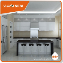 Diseño de cocina a medida Modern Style High Gloss Lacquer painting Kitchen Cabinet