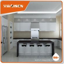 Design de cuisine sur mesure, style moderne, laqué brillant, peinture, armoire de cuisine