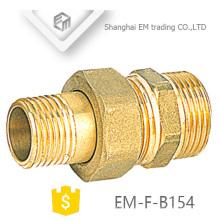 EM-F-B154 Fabricante latão rosca macho união encaixe de tubulação