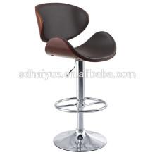 2017 NOVO preto Moderno Ajustável Giratória Hidráulica bar Bancos Baixo Voltar Accent Chair, Restaurante & Home, Noz; Matt Black