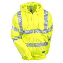 Men's High Visibility Yellow Hooded Sweatshirt