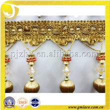 Fashion and New Design Cyrstal Gold Trim Braid for Curtain Accessories and Lampshade