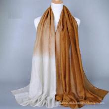 Neue Stil Mode Farbverlauf Gold Stempel Uni gedruckt einzigartige Hijab Stile Dubai Hijab
