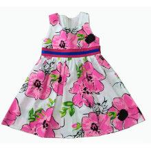 Flower Dress in Summer for Hot Sale Children Clothes (SQD-120)