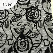2016 Venta caliente que se reúne la tela del sofá con el patrón hermoso de Rose
